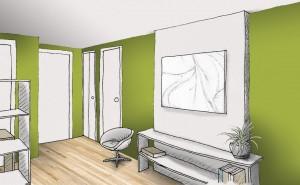 mur chaud vert